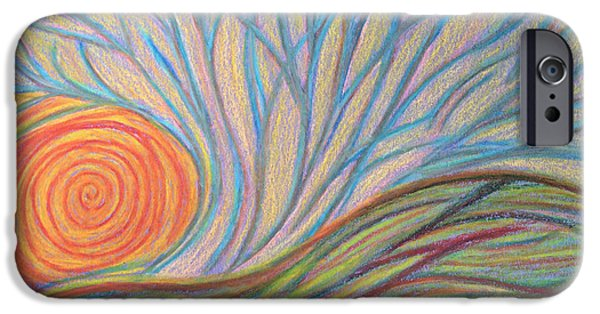 Spiritual Pastels iPhone Cases - Coming to be Seen iPhone Case by Jamie Rogers