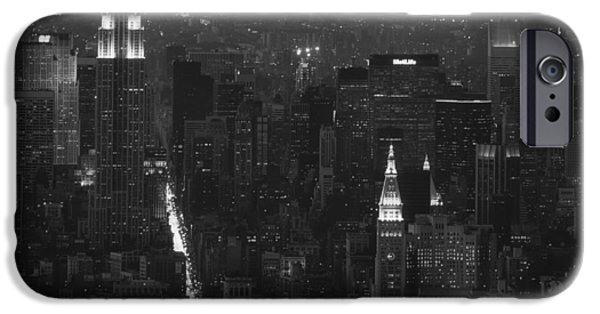 Headstones iPhone Cases - Empire State Building 1980s - New York City iPhone Case by Mountain Dreams