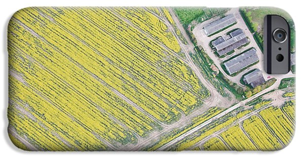 Above iPhone Cases - English farm iPhone Case by Tom Gowanlock