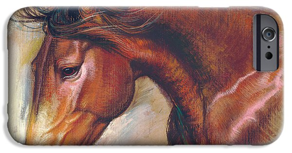 Maine iPhone Cases - English Horse Variant 1 iPhone Case by Zorina Baldescu