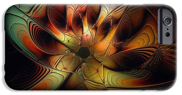 Floral Digital Art Digital Art iPhone Cases - Enigma iPhone Case by Amanda Moore