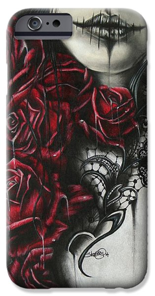 Macabre iPhone Cases - Entrap  iPhone Case by Sheena Pike