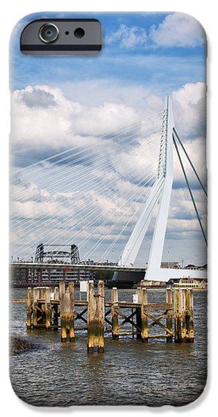 Erasmus Bridge in Rotterdam iPhone Case by Artur Bogacki