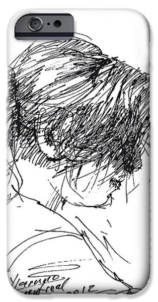 Pretty Drawings iPhone Cases - Eriola iPhone Case by Ylli Haruni