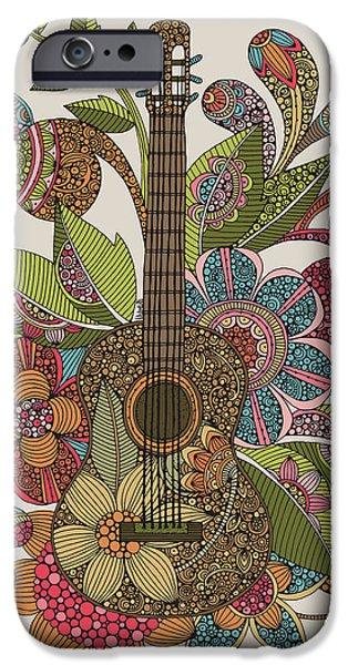 Design iPhone Cases - Ever Guitar iPhone Case by Valentina