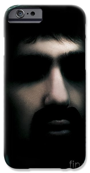 Abnormal iPhone Cases - Evil Face Of Horror iPhone Case by Ryan Jorgensen