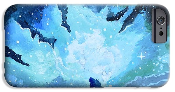 Outer Space Paintings iPhone Cases - Expansion iPhone Case by Cedar Lee