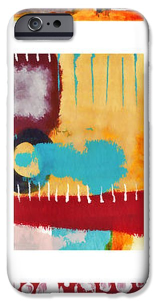 Colorful Abstract iPhone Cases - Exuberance No. 2 iPhone Case by Carol Leigh