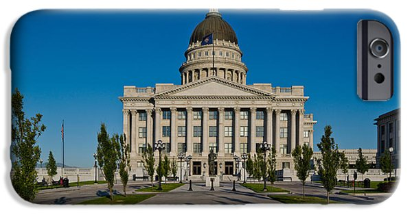 Capitol Hill iPhone Cases - Facade Of A Government Building, Utah iPhone Case by Panoramic Images
