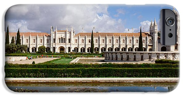 Reflection Of Trees iPhone Cases - Facade Of A Monastery, Mosteiro Dos iPhone Case by Panoramic Images
