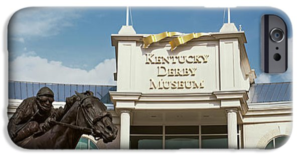 Kentucky Derby Photographs iPhone Cases - Facade Of The Kentucky Derby Museum iPhone Case by Panoramic Images