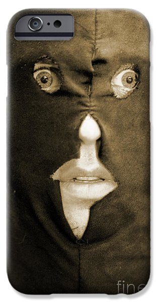 Hangman iPhone Cases - Face Of Fear iPhone Case by Ryan Jorgensen