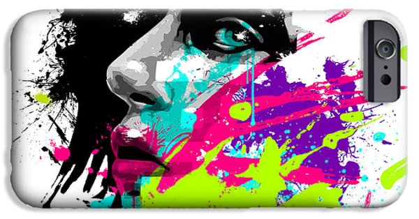 Surrealism Digital Art iPhone Cases - Face Paint 2 iPhone Case by Jeremy Scott