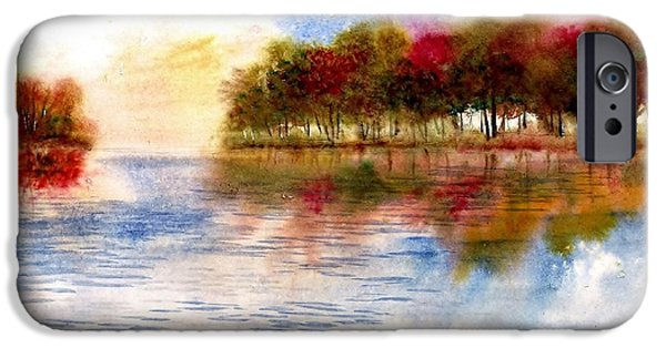 Award Winning Art iPhone Cases - Fall Color Reflections iPhone Case by Steven Schultz