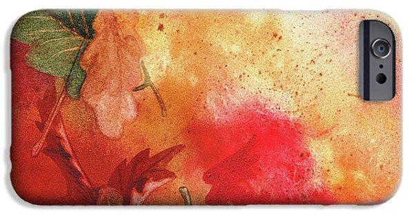 Maple Season Paintings iPhone Cases - Fall Impressions  iPhone Case by Irina Sztukowski