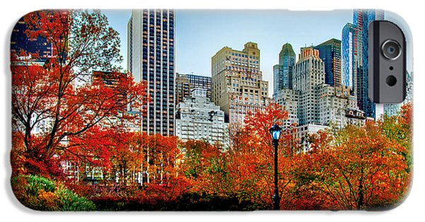Midtown iPhone Cases - Fall In Central Park iPhone Case by Az Jackson