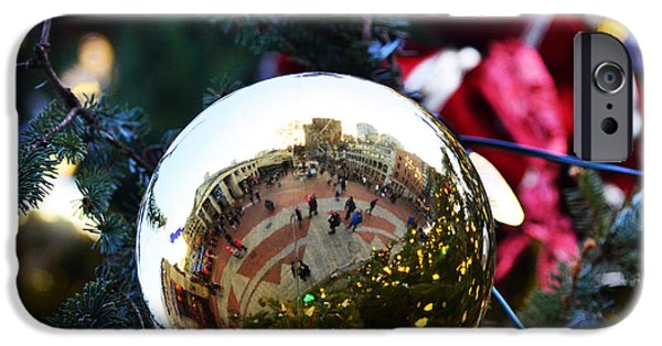 Boston Ma iPhone Cases - Faneuil Hall Christmas Tree Ornament iPhone Case by Toby McGuire