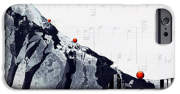 Piano iPhone Cases - Fantasia - Piano Art By Sharon Cummings iPhone Case by Sharon Cummings
