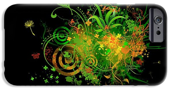 Abstract Digital Art iPhone Cases - Fantasy iPhone Case by Janice DeLawter