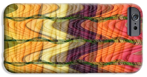 Spectrum Mixed Media iPhone Cases - Fantasy Waves Pattern 3D Plateau art made of vegitable colors iPhone Case by Navin Joshi