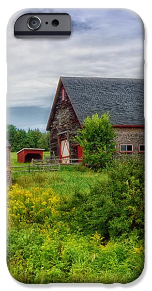 Farm Scene in Rural Maine iPhone Case by Mountain Dreams