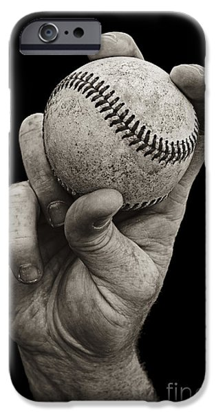 Baseball iPhone Cases - Fastball iPhone Case by Diane Diederich