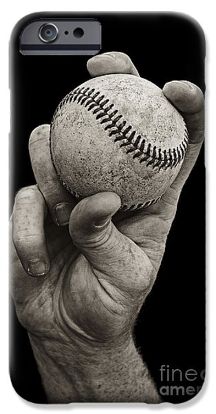 Sports iPhone Cases - Fastball iPhone Case by Diane Diederich