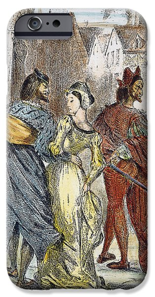 Delacroix iPhone Cases - Faust: Mephistopheles, 1828 iPhone Case by Granger