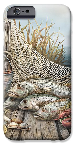Net Mixed Media iPhone Cases - Feast iPhone Case by Beverly Levi-Parker