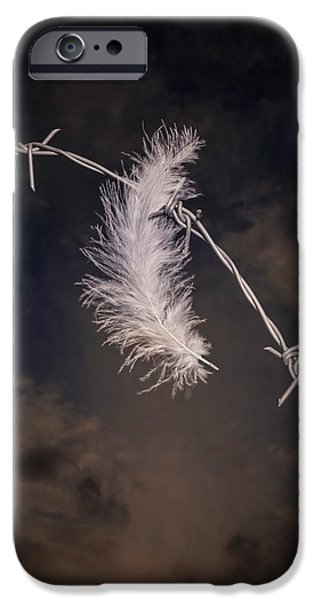 Eerie iPhone Cases - Feather iPhone Case by Joana Kruse