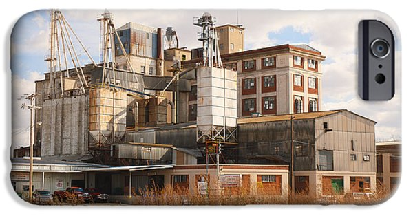 Feed Mill Photographs iPhone Cases - Feed Mill iPhone Case by Charles Beeler
