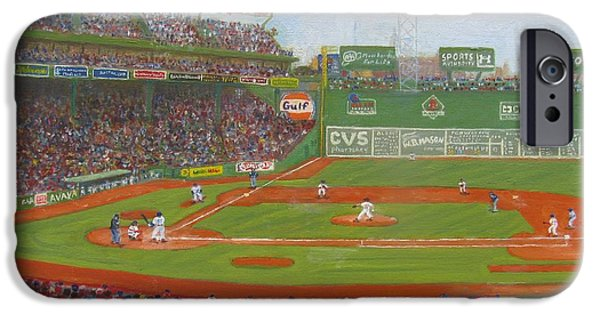 Boston Ma Paintings iPhone Cases - Fenway Park iPhone Case by Claire Norris
