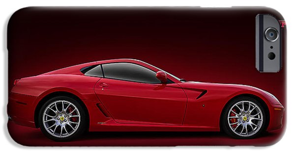 Formula Car iPhone Cases - Ferrari 599 GTB iPhone Case by Douglas Pittman