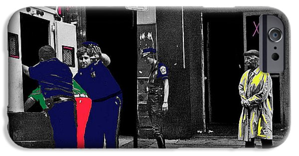 Boston Ma iPhone Cases - Film Homage Cool Hand Luke 1967 Paddy Wagon Porn Theater Pilgrim Theater Boston Ma 1977-2008 iPhone Case by David Lee Guss