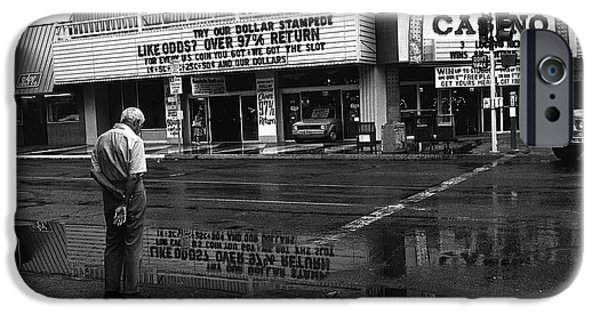 Richard Conte iPhone Cases - Film Noir Jules Dassin Richard Conte Thieves Highway Rain Sundance West Las Vegas Nevada 1977 iPhone Case by David Lee Guss
