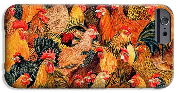 Chickens iPhone Cases - Fine Fowl iPhone Case by Ditz