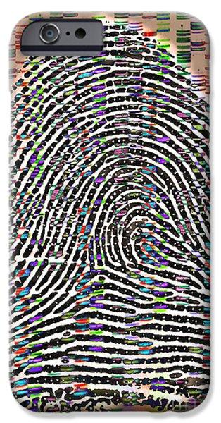 Sanger iPhone Cases - Fingerprint Analysis iPhone Case by Scott Camazine