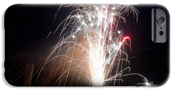 Independance Lake iPhone Cases - Fireworks 9 iPhone Case by Cassie Marie Photography