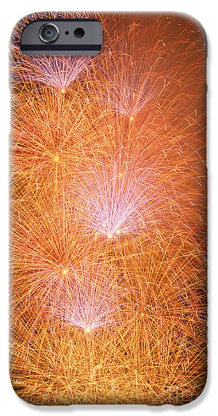 4th July iPhone Cases - Fireworks Display iPhone Case by Jim Corwin