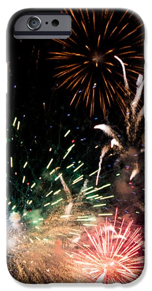 Fireworks iPhone Cases - Fireworks iPhone Case by Gaurav Singh