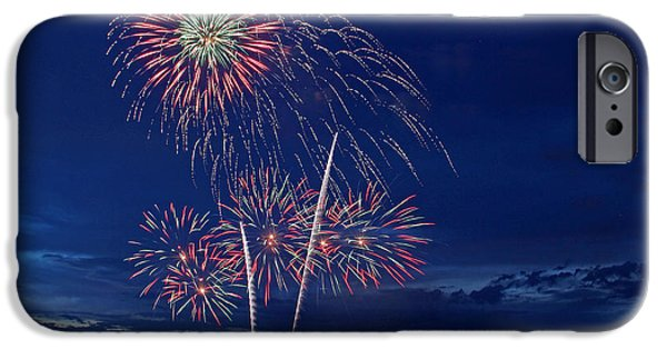4th Of July iPhone Cases - Fireworks iPhone Case by Lisa Boland