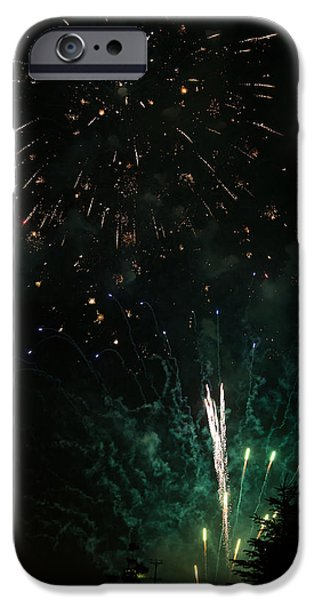 Fireworks iPhone Case by Michael Chatt