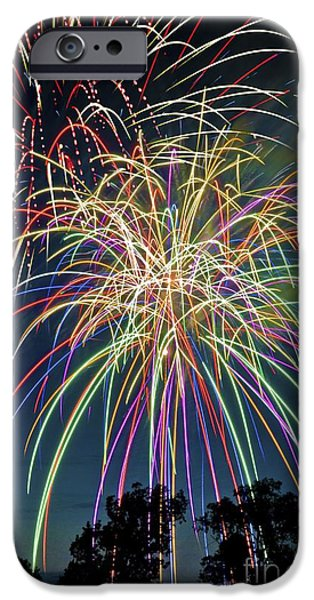 Fireworks iPhone Case by Michael Shake
