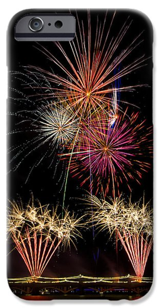 4th July Photographs iPhone Cases - Fireworks  iPhone Case by Saija  Lehtonen