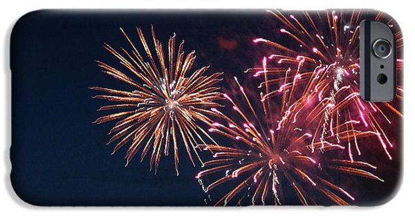 4th July Photographs iPhone Cases - Fireworks Series VI iPhone Case by Suzanne Gaff