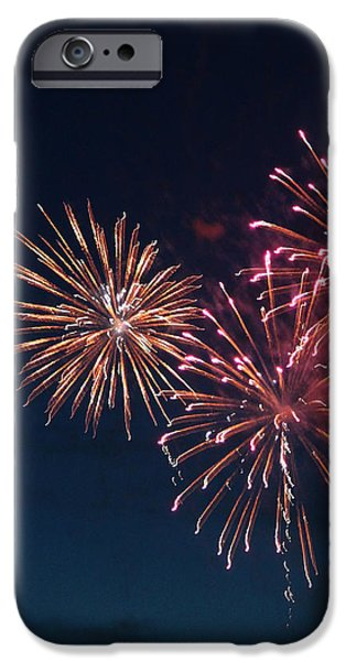 Fireworks Series VI iPhone Case by Suzanne Gaff