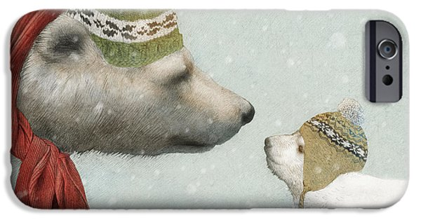Scarves iPhone Cases - First Winter iPhone Case by Eric Fan
