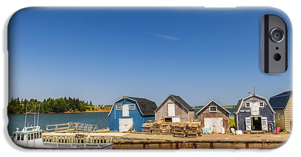 Village iPhone Cases - Fishing dock in Prince Edward Island  iPhone Case by Elena Elisseeva