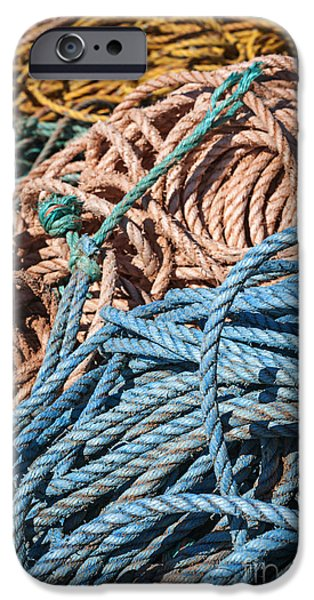 Industry iPhone Cases - Fishing ropes iPhone Case by Elena Elisseeva