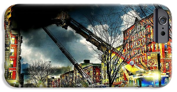 Harlem iPhone Cases - Five Alarm Harlem iPhone Case by Diana Angstadt